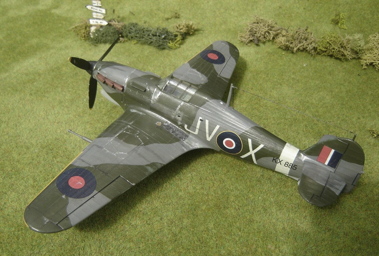Hawker Hurricane Mk IV 'JV-X' of 6 Squadron. Kit is by Monogram and is in 1/48th scale.