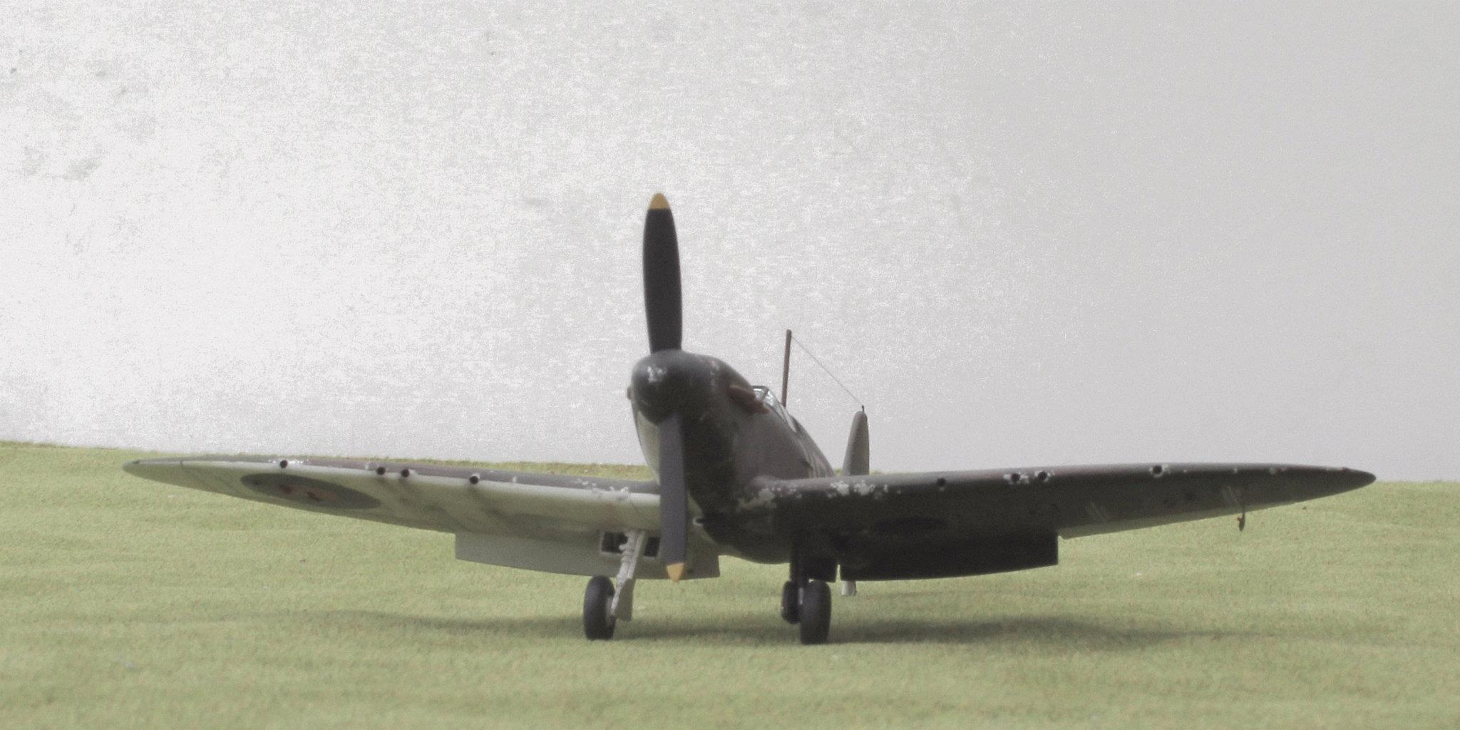 Spitfire Mk I of 19 Squadron at Duxford in early 1939. Kit is 1/48th scale by Airfix.