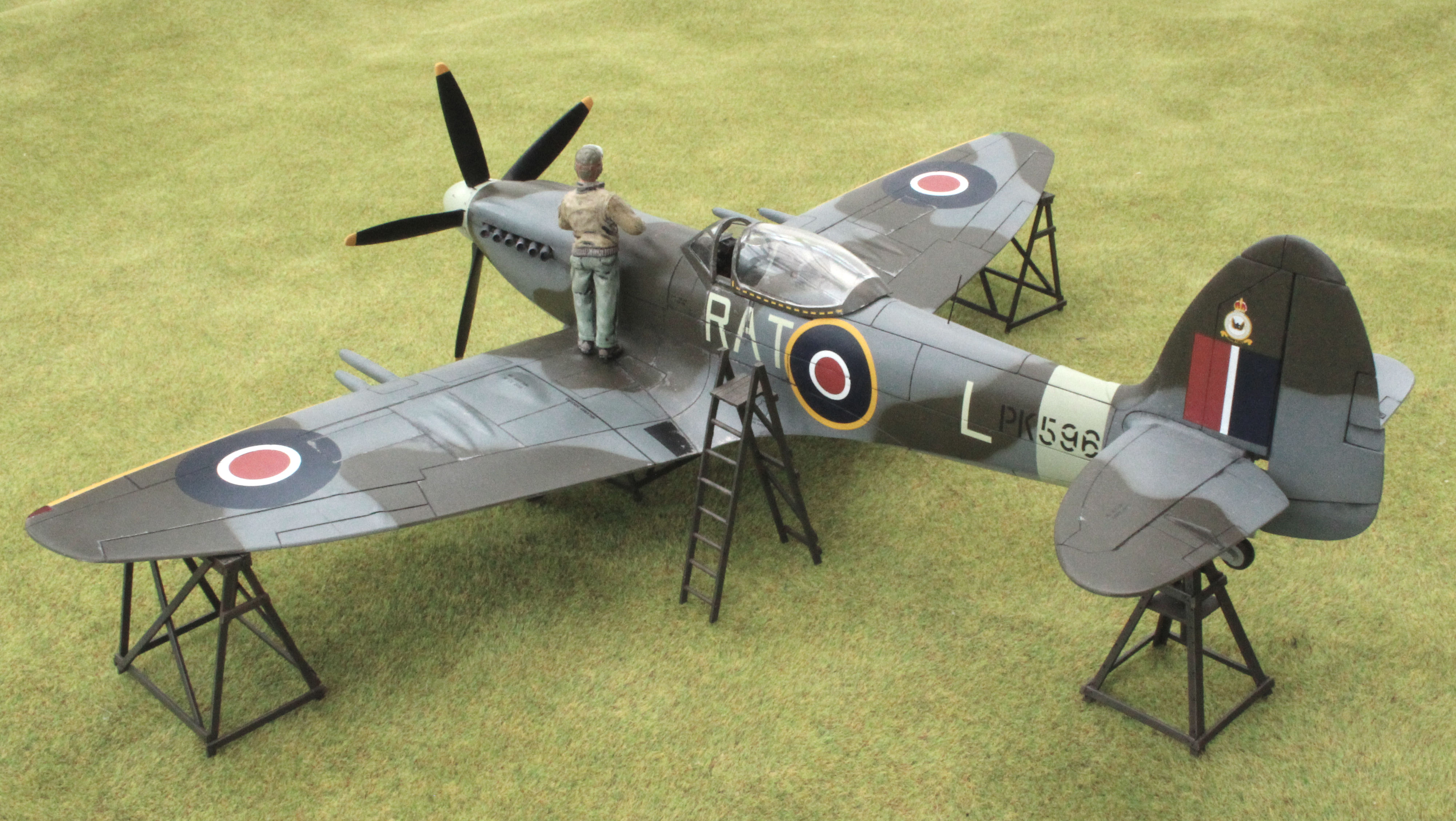 Supermarine Spitfire Mk.22, 613 (City of Manchester) Squadron, Royal Auxiliary Air Force. Revell kit in 1/32nd scale.