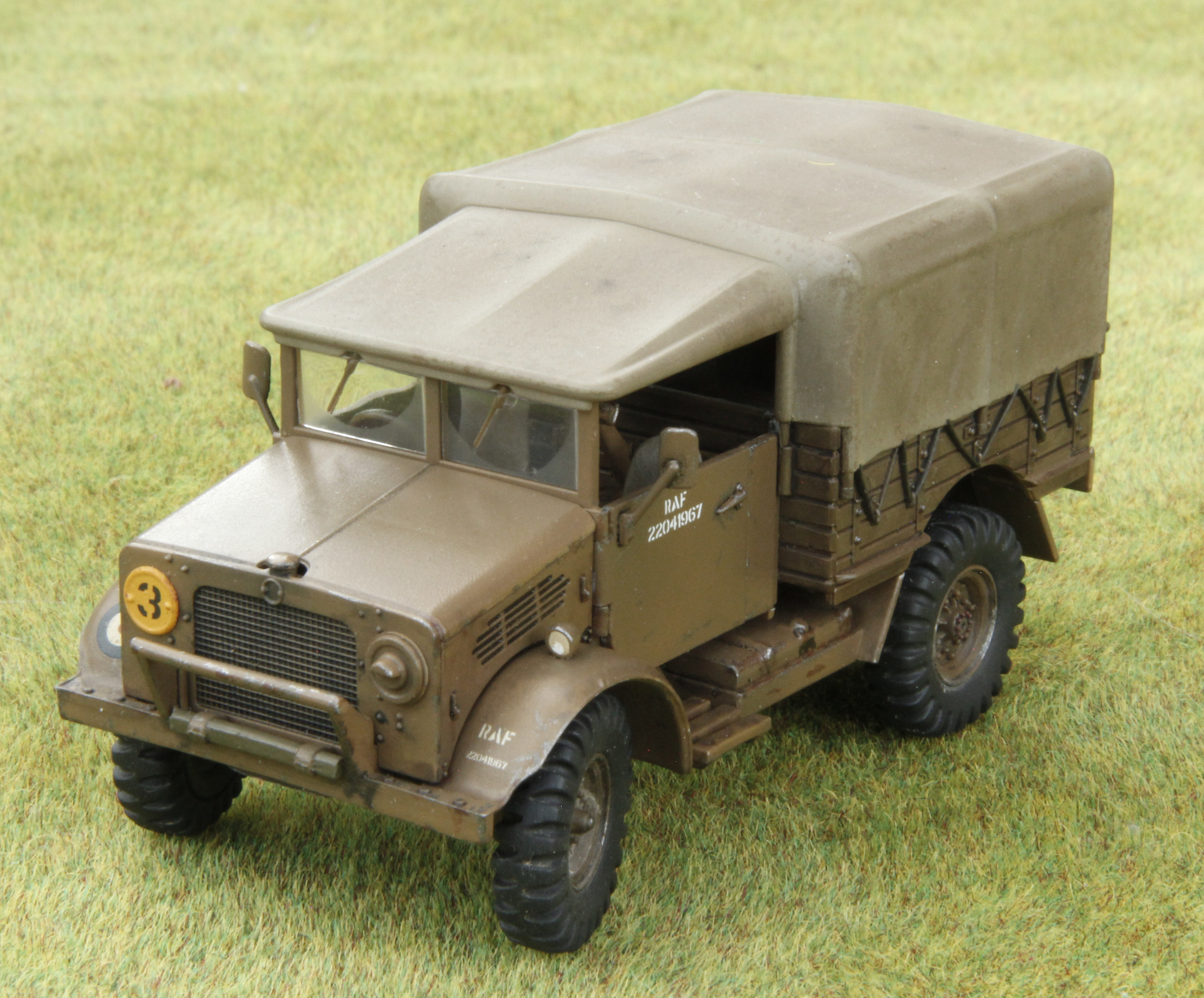 Airfix 1/48th scale late version Bedford MWD in RAF service.