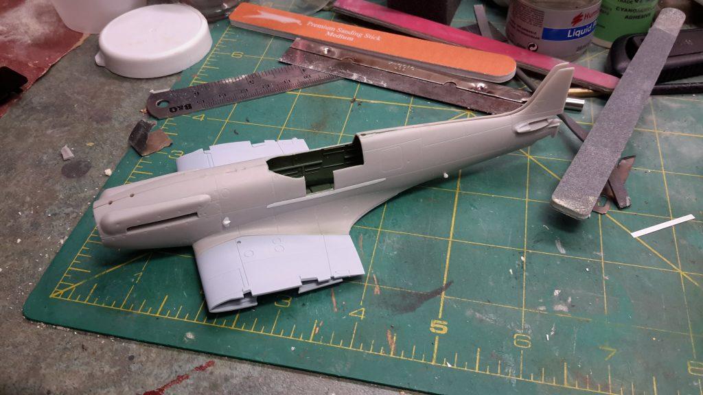 Seafire Mk XV - Airfix Spitfire XII and Seafire XVII cross-kitting