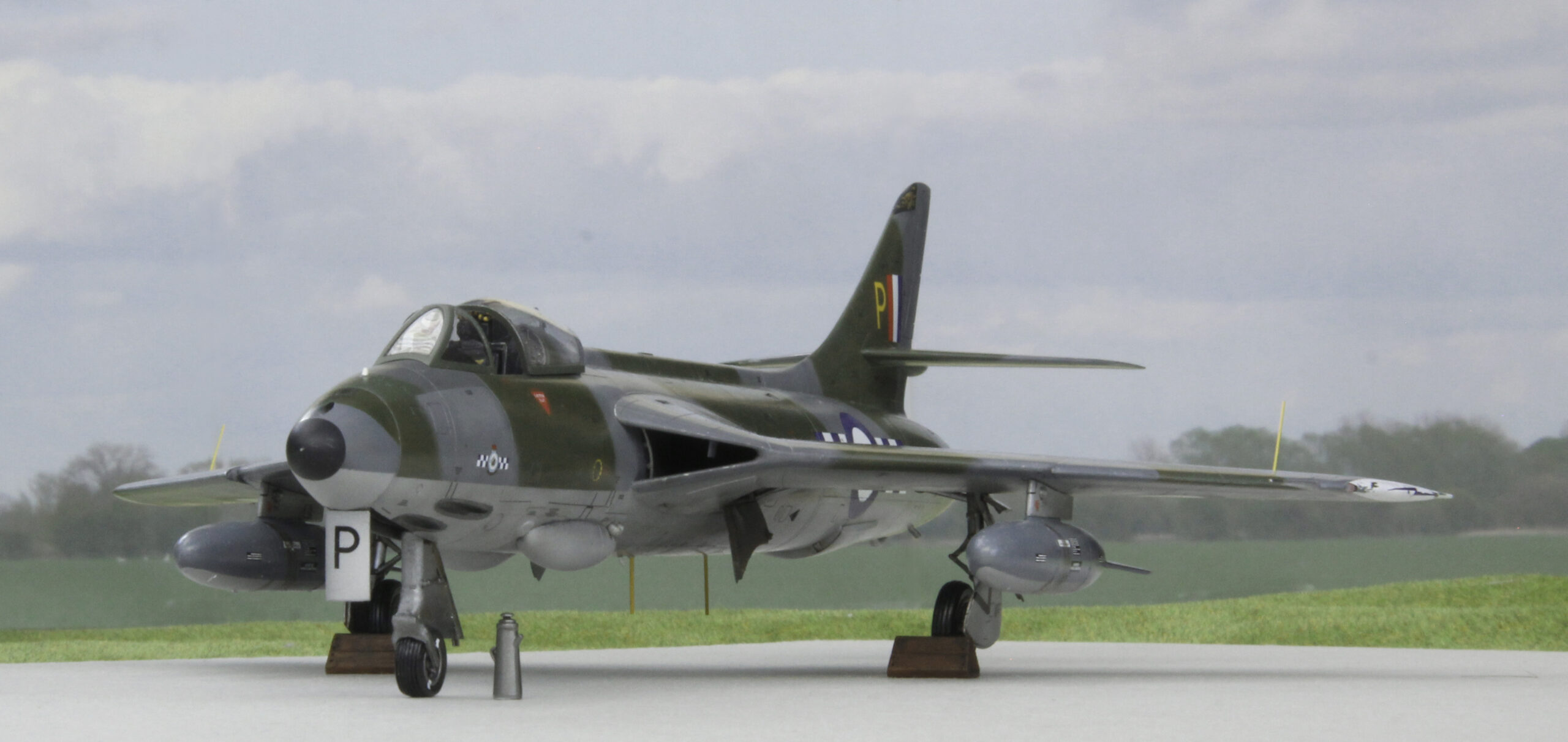 Hawker Hunter F.6 of 19 Squadron at Church Fenton in May 1958