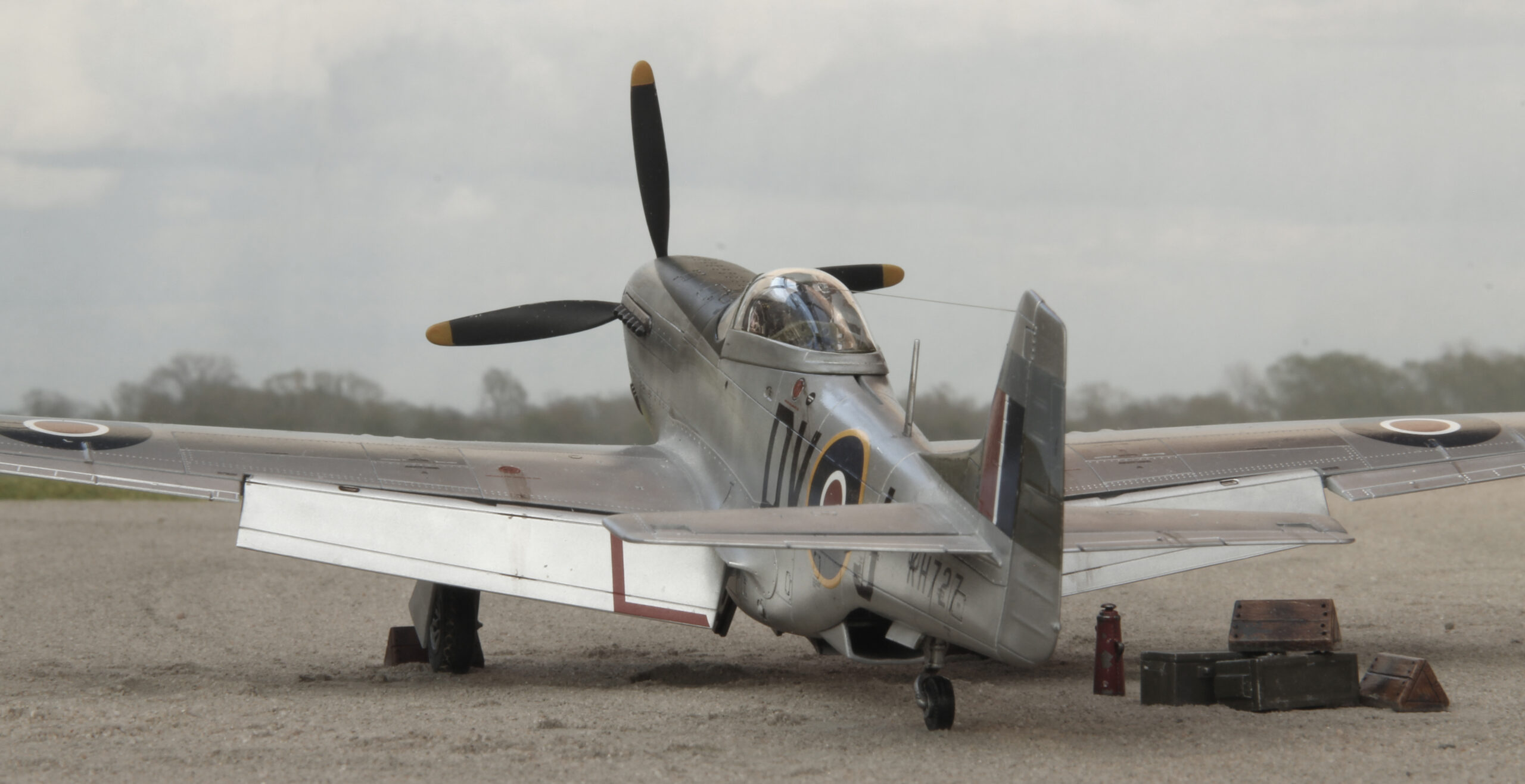 P-51K Mustang Mk IVa of 93 Squadron, Italy in 1946. Airfix 1/48 scale